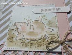 …hast Du Dich vielleicht gefragt, als Du die Double Poket Card mit den kleinen Schweinchen gesehen hast ;-) . Das zeige ich Dir heute! Denn eigentlich sieht der Stempel ja etwas anders aus ;-…