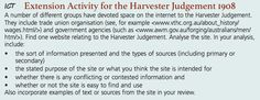 Extension Activity on the Harvester Judgement (Monday)