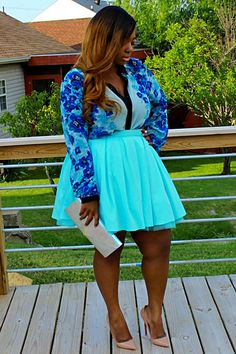 +Size Black Girls Killing It! Turquoise, Royal Blue & Nude