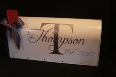 Wedding Mailbox Card Box  Standard USPS size  by MarleyintheMiddle, $54.00