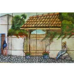 Mexican Style Mural - Portal – Mexican Tile Designs
