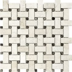 �12-in x 12-in Ivory Travertine Natural Stone Mosaic Basketweave Wall Tile (Actuals 12-1/2-in x 12-1/2-in)