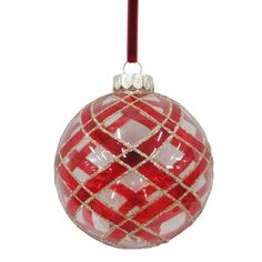 Holiday Living Deck The Halls Ball Ornament ($10) ❤ liked on Polyvore featuring home, home decor, holiday decorations, christmas tree ball ornaments, xmas tree ornaments, holiday ornament and holiday home decor
