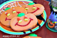 Mommy's Kitchen -  Jack O Lantern Sugar Cookies #halloween #cookies