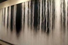 Hiroshi Senju - Day Fall / Night Fall II, 89.5x171.7 inches, fluorescent paint on rice paper mounted on board, 2007