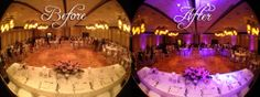 Los Angeles Quincenera Lighting Before & After