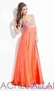 Buy Long Sweetheart Gown with an Open Back by Rachel Allan at PromGirl