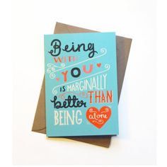 Funny Valentines Day Card - Hand Lettering / Typography / Cute Funny Card / Greetings Card on Etsy, $5.11 CAD