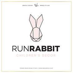 Premade Run Rabbit Logo by InkeePress on Etsy, $50.00