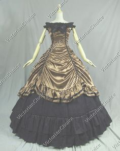 02008cc97c Southern Belle Gown Civil War Period Dress Reenactment Halloween Costume.  Vestimenta De ÉpocaVestidos ...