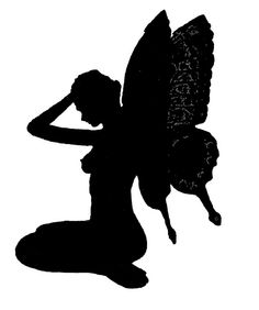 Vintage Fairy Silhouette