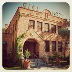Gage Hotel, Marathon, TX by treyerice, via Flickr  ( I love this place, visit the cemetery and you will be surprised at how they still cover graves with rocks, like the old westerns)   Drive the back streets and you will be amused and surprised by the artistic residences.  A fabulous five star restaurant and some wonderful saloons around the town.  oh, yes, room 10 is haunted, the violin on the wall plays in the night time.