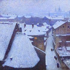 Václav Jansa (1859-1913)  Malostranské střechy