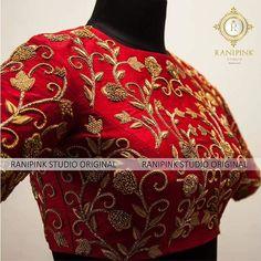 maggam work bridal blouse designs for silk sarees maggam work bridal saree blouse designs, pattu saree blouses, aari work blouse designs, arya work blouse catalogue, ranipink studio Pattu Saree Blouse Designs, Fancy Blouse Designs, Bridal Blouse Designs, Blouse Neck Designs, Zardosi Work Blouse, Blouse For Silk Saree, Blouse Designs Embroidery, Zardozi Embroidery, Indian Blouse
