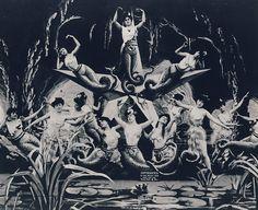 Mermaids in George Melies' 1906 film adaption of Leagues Under The Sea. Georges, Imagery, Silent Film, Méliès, George, Art, George Melies, Leagues Under The Sea, Film Stills