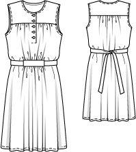 Schnittmuster: Jerseykleid mit Tunnel - für Kurzgrößen - Blusenkleider - Kleider - Damen - burda style
