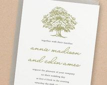 Printable Wedding Invitation Template | INSTANT DOWNLOAD | Oak Tree | Edit Yourself in Word or Pages | Easy DIY | Editable Artwork Colors