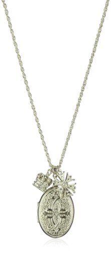 1928 Jewelry Keepsake Lockets Charms Vintage-Inspired Look Necklace - 1928, Charms, Jewelry, keepsake, Lockets, Look, Necklace, VintageInspired http://designerjewelrygalleria.com/1928-jewelry/1928-jewelry-keepsake-lockets-charms-vintage-inspired-look-necklace/