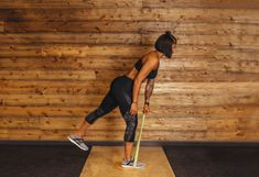 5. Single-Leg T Row #greatist https://greatist.com/fitness/resistance-band-core-exercises-massy-arias