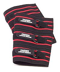 Inzer knee Sleeves xt.  These things are approved for RAW/Unequipped USAPL competitions.