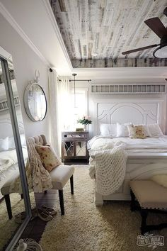 Thrilled to be sharing our new modern French country master bedroom with you today! Come see: http://thediymommy.com/our-modern-french-country-master-bedroom-one-room-challenge-reveal/ #oneroomchallenge