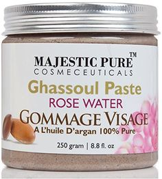 Majestic Pure Moroccan Ghassoul Paste Hammam Spas Premium Quality Paste with Rose Water and Argan Oil 88 Oz  Visibly Improves the Appearance of Your Skin Within Minutes *** Continue to the product at the image link.