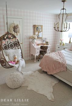 Dear Lillie: Lillie's Room With a New Chandelier
