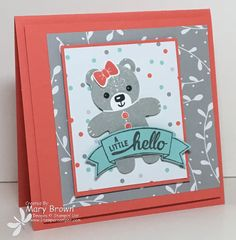 SUO155 A Little Hello by stampercamper - Cards and Paper Crafts at Splitcoaststampers