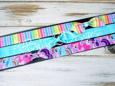 My Little Pony Bow Headband Set, Hair Tie Set, OR Combo by babyzdesigns, $2.49