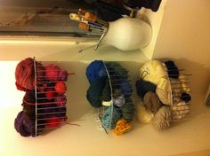 Shower baskets, maybe no the most beautiful storage, but cheap and practical.
