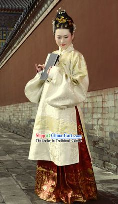 6733ecf8ad Ancient Chinese Ming Dynasty Lady Clothing Complete Set for Women Columbus
