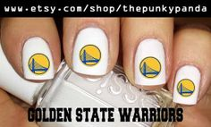 Buy 2 Get 1 Free  GOLDEN STATE Warriors Nail Decals