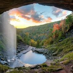 Kaaterskill Falls - Palenville, NY, United States. Took this right after sunset.