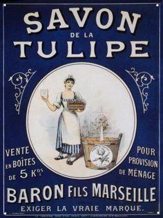 Vintage Label......Savon de la Tulipe Baron Fils Marseille