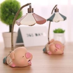 Tinksky LED Desk Lamp Pig Childrens Night Lights Novelty Items Bedside Book Desk Lamp Table Light Lamp (Poutting Pig) - Christmas Birthday Gift for Children - - Amazon.com