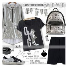 """Back to School: New Backpack"" by katjuncica ❤ liked on Polyvore featuring MCM, Rick Owens, Golden Goose, Eddie Borgo and BackToSchool"