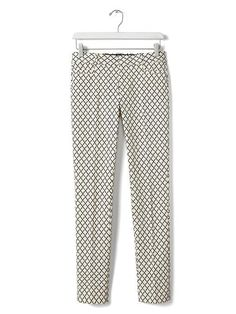 Sloan-Fit Print Ankle Pant