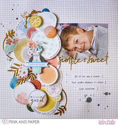 Scrapbook Layout with Pinkfresh Studio Sweet @papierjambon