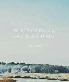 Peace is joy at rest