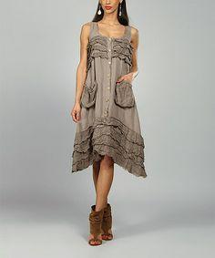 Look at this #zulilyfind! Mole Clara Linen Sidetail Dress #zulilyfinds