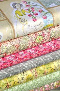 Handmade image is courtesy of Hawthorne Threads Bundle Fabric by wonderful illustrator Cori Dantini. Fabric Design, Pattern Design, Textile Design, Fabric Websites, Quilt Material, Textiles, Vintage Fabrics, Fabric Online, Fabric Samples