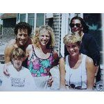 August 1994 a private shot taken of Diana during her Martha's Vineyard holiday with the fletcher di Limas.  American actor Paul Michael Glaser is in this shot. Paul's wife is Elizabeth Glaser, a well know AIDS sufferer and head of a charitable AIDS foundation, she died a year or so after she met Diana here
