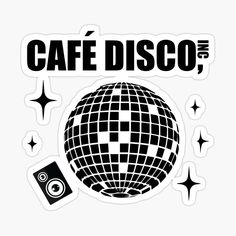 'Cafe Disco' Glossy Sticker by BossClothingInc Decorate Notebook, Glossier Stickers, Sticker Design, Boss, It Is Finished, Printed, Awesome, Art, Products