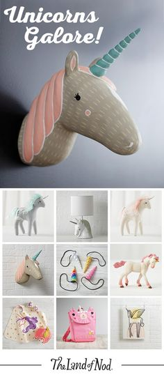 Glimpsing a unicorn in the wild is tough. But, thanks to The Land of Nod, finding the perfect gift f… (mit Bildern) Party Unicorn, Diy Unicorn, Unicorn Rooms, Real Unicorn, Magical Unicorn, Rainbow Unicorn, Unicorn Birthday Parties, Unicorn Bedroom, Unicorn Makeup