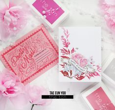 The Ton May 2021 Release – rainbow in november Peony Print, Pink Envelopes, Ombre Effect, Peach Blossoms, Glass Slipper, White Glitter, Large Flowers, Ink Color, Accent Colors