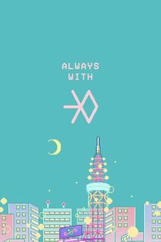 Exo L Wallpaper, New Year Wallpaper, Wallpaper Backgrounds, Kpop Wallpapers, Cute Wallpapers, K Pop, Exo 12, 8bit Art, Exo Fan Art