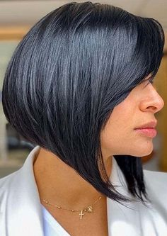 Gorgeous Shapes Of Assymetrical Bob Haircuts for 2020 Bob Haircuts 2017, Best Bob Haircuts, Modern Bob Hairstyles, Black Women Hairstyles, Assymetrical Bob, Cute Bob, Best Bobs, Bob Cuts, Latest Hair Trends