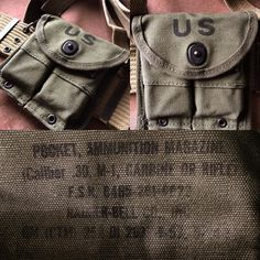 """Gear up  M1 ammo pouch later model. During the second world war the U.S Army came up with an idea of creating """"universal pouch"""" for the ammo of M1 rifles and carbines.  The idea was that a standard 10- pouched cartridge belt used for holding rifle ammo would be replaced by these pouches. The idea never came fully true maybe because riflemen were able to carry a greater amount of ammo in the older belts. This pouch can hold two clips for the M1 Garand or two mags for the M1 Carbine. Being…"""