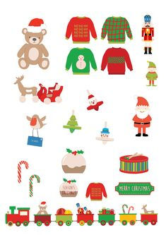 Step into the magical world of Santa's workshop with these fun designs. Create cute Christmas scenes with cheeky elves and piles of traditional toys, then add bright festive papers in complementary colours. Christmas Scenes, Christmas 2019, Christmas Cards, Xmas, Christmas Bunting, Christmas Gingerbread, Exploding Box Card, Free Christmas Printables, Free Printables