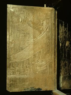 One of the Double Doors of Tutankhamen's Gilt Shrine Showing the Goddess Isis.